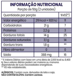 informacao nutricional biscoito crocante - Home