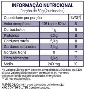 informacao nutricional produto multigraos - Home